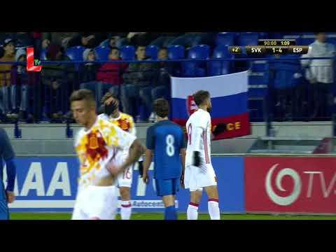 Словакия U-21 - Испания U-21 1:4 видео
