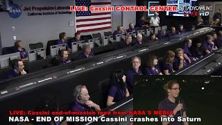 END Mission Cassini crashes into Saturn, live