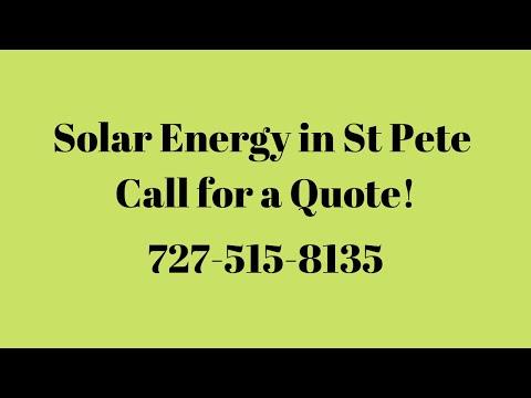 Solar Energy St Pete, Florida - Видео онлайн