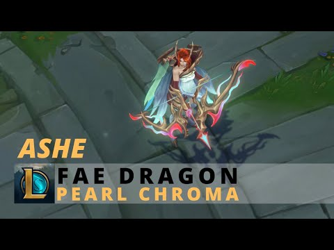 Fae Dragon Ashe Pearl Chroma - League Of Legends