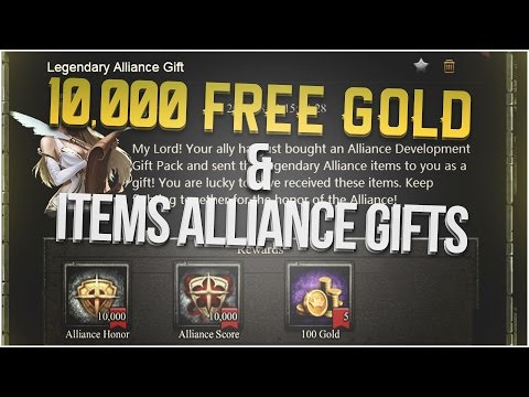 10,000 FREE GOLD & ITEMS ALLIANCE GIFTS (CLASH OF KINGS)