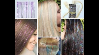 Tutorial Demo How to attach HAIR TINSEL EXTENSIONS the easy way!