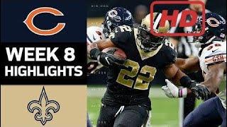 Bears vs. Saints | NFL Week 8 Game Highlights