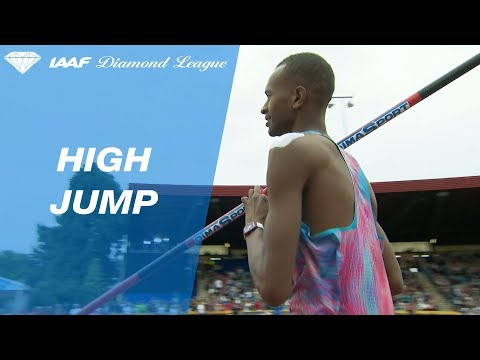 Mutaz Barshim jumps 2.40 and takes the bar back home - IAAF Diamond League Birmingham 2017