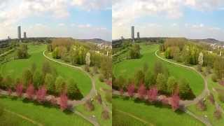 3D video - Bonn: Rheinaue By Eagle Eye - YT3D - Drone