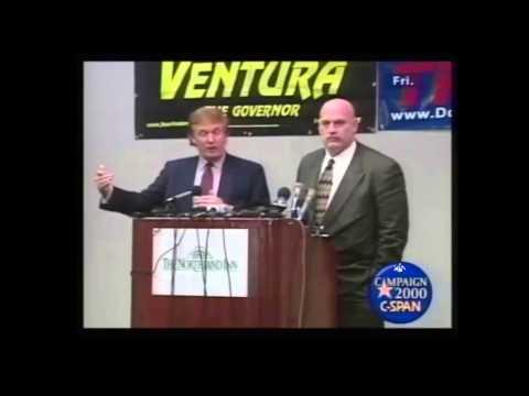Donald Trump Jesse Ventura Press Conference 1999. Will Trump Run For President