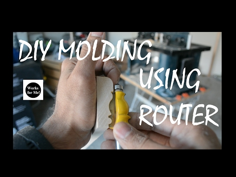 Homemade molding using Router bit