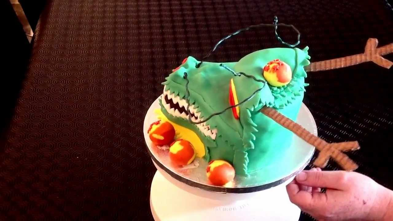 Dragonball z birthday cake Shenron dragon YouTube