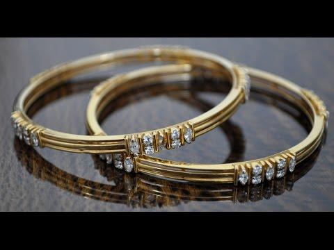 DIAMOND BANGLE OF FANCY SHAPE DIAMONDS LIKE PEAR, MARQUISE - HYDERABAD