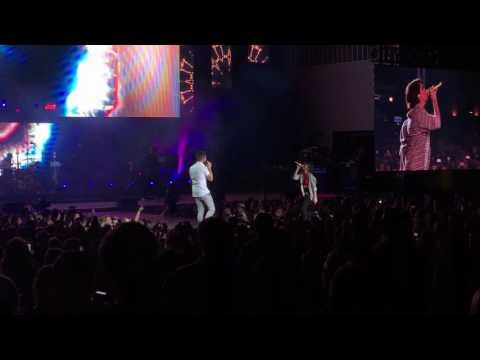 "Thomas Rhett and Maren Morris Singing ""Craving You"" in Nashville 4/20/17"