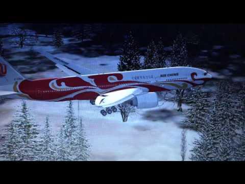 air china red Phoenix lands in Düsseldorf fax