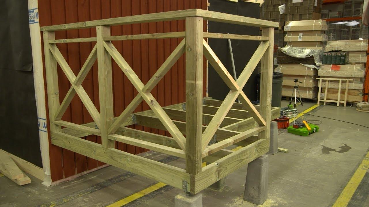 FixarTV | Bygga Altan (del 4) | Bygga Staket - YouTube : staket till altan : Staket