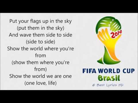 We Are One Ole Ola Pitbul Jennifer Lopez & Claudia Leitte Lyrics FIFA World Cup 2014 Brazil