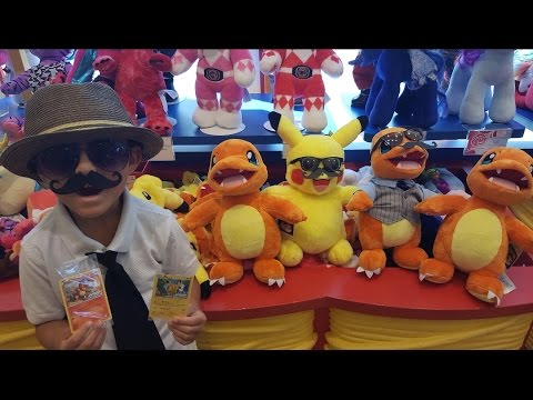 CARL Makes A PIKACHU And CHARMANDER Build A Bear!! Exclusive