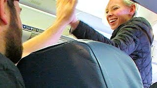 GIVING A STRANGER MY FIRST CLASS SEAT!