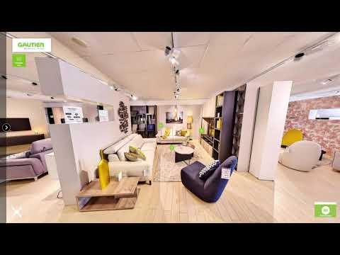 La visite virtuelle 12K et interactive du magasin Gautier de Nantes.