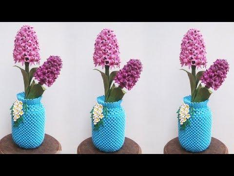 3D Origami Flower Vase V16 Tutorial | DIY Paper Flower Vase Home Decor