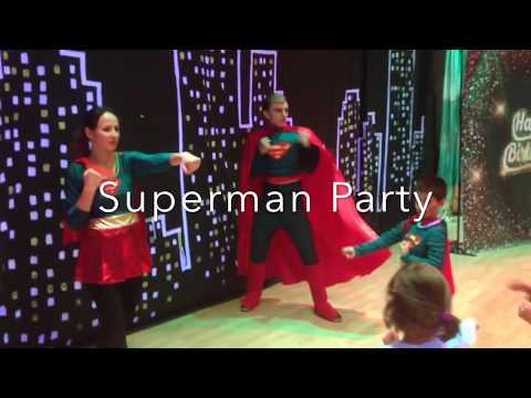 SUPERMAN Themed PARTY /  Superhero party Toronto / Kids parties Toronto / Fairyland Theatre Toronto