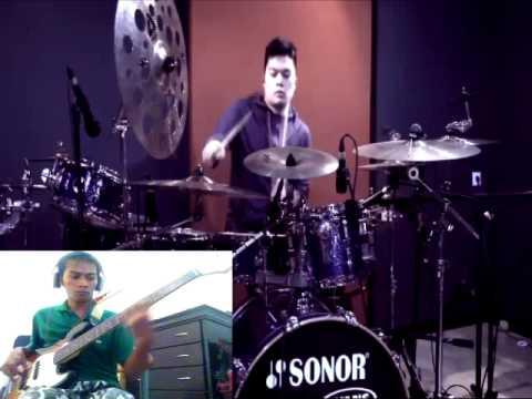 Adera Lebih Indah -  Echa Drum ( Yacob Bass Cover )