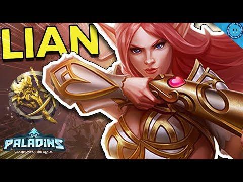 SLIP N SLIDE LIAN! CRAZY DAMAGE DASH COMBO! Alacrity Lian Gameplay and Build! (Paladins)