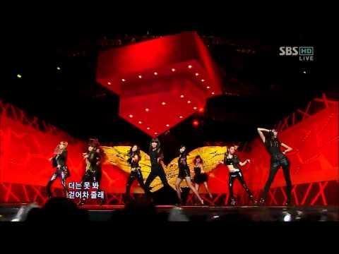 [소녀시대,런데빌런] 100321 인기가요 Run Devil Run