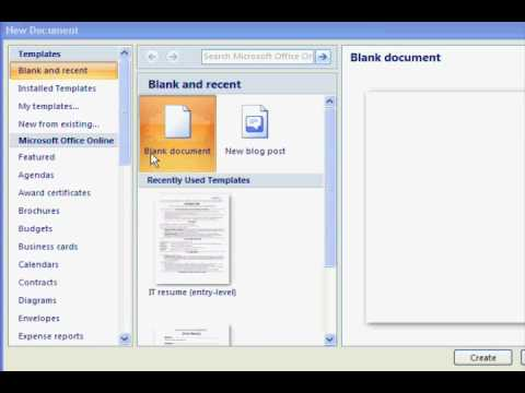 free resume templates in microsoft word youtube - How To Open Resume Template Microsoft Word 2007