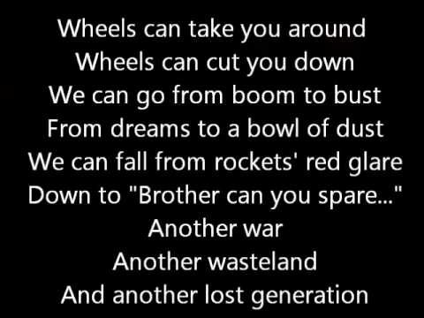 Rush-Between The Wheels (Lyrics)