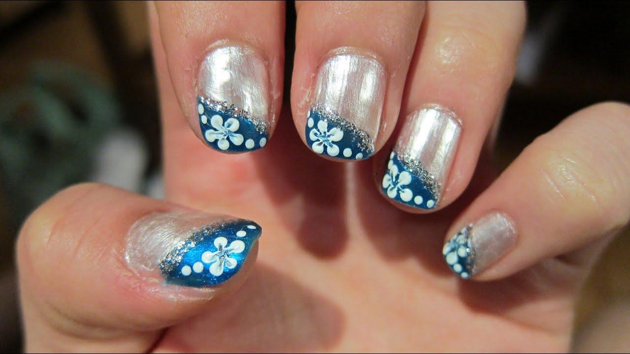 Enchanted Blue Prom Nail Tutorial