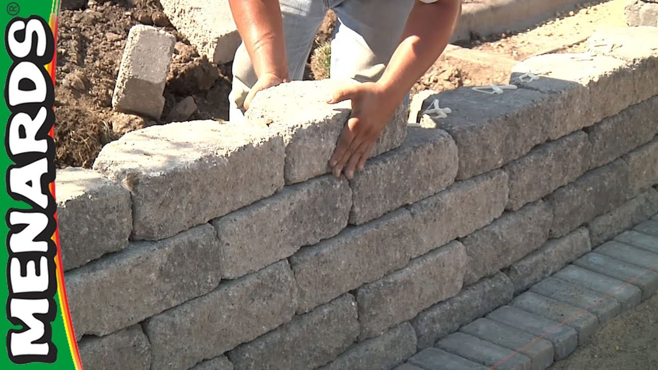Landscaping Retaining Wall Blocks Menards : Retaining wall how to build menards