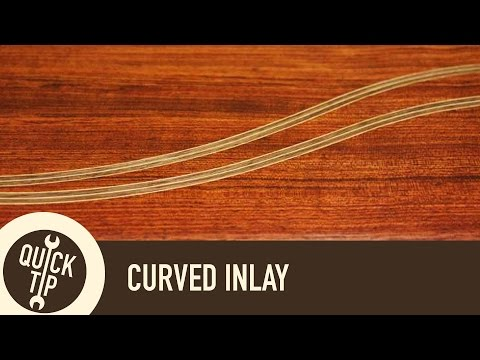 How To Make Curved Inlay