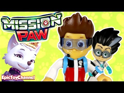 PAW PATROL MISSION PAW Sweetie & Romeo from PJ Masks Battle Paw Patrol Mission Paw Ryder a Toy Video