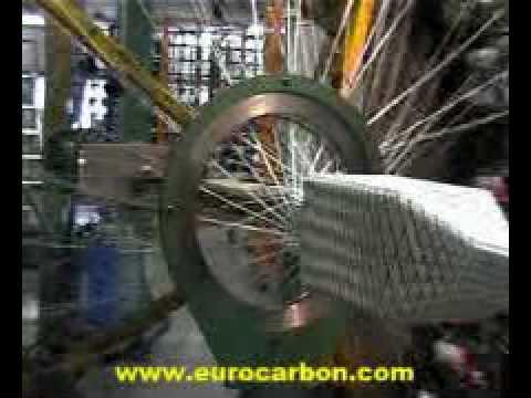 5 Wire Harness Eurocarbon Biaxial Braiding Machine Youtube