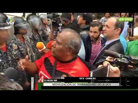 Venezuela - GNB y PNB impide movilización de trabajadores de la UCV  - VPItv