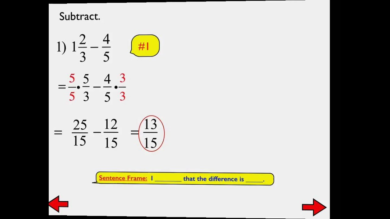 15 B Add Amp Subtract Rational Numbers Fractions Day 2