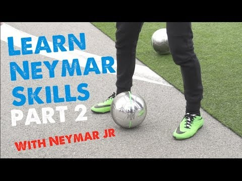Neymar skills 2014 Part 2  Learn Footballsoccer skills with Neymar & Cafu