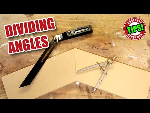 DIVIDING ANGLES for Woodworking - Old School Compasses Method - GHTL#19 [120]