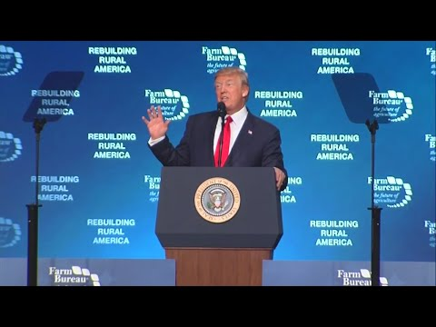 President Trump addresses Farm Bureau during 2nd trip to Nashville