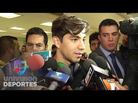 Primeras declaraciones de Oribe Peralta y Rodolfo Pizarro a su llegada a México