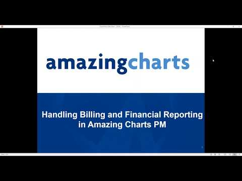 Handling Billing and Financial Reporting in Amazing Charts Practice Management