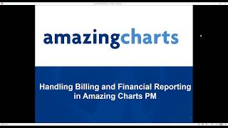 Video Handling Billing and Financial Reporting in Amazing Charts Practice Management download MP3, 3GP, MP4, WEBM, AVI, FLV Juli 2018