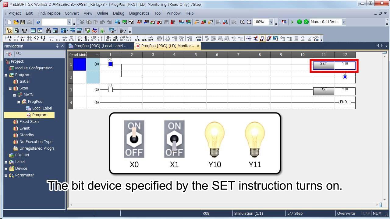 hight resolution of ladder logic programming sequence instructions melsec tutorial