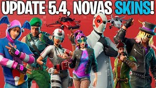 NEW SKINS, PARACHUTES, PICKS AND MORE LEAKED UPDATE 5.4! -Fortnite, the