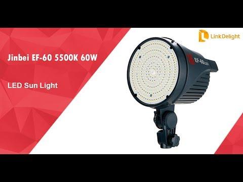 Light 60w Portable Led 60 5500k Ef Jinbei Sun ukiOPXZT
