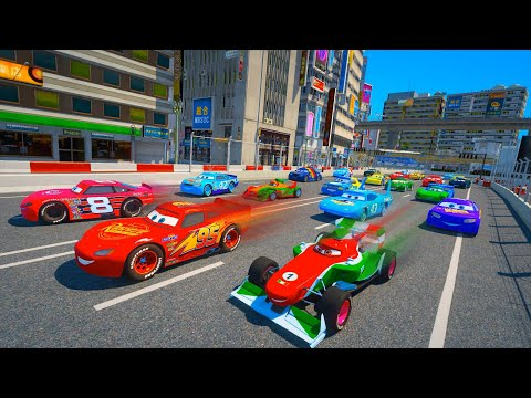 Street Racing in Japan Shibuya Disney Cars 2 Lightning McQueen and Friends The King Chick Hicks  