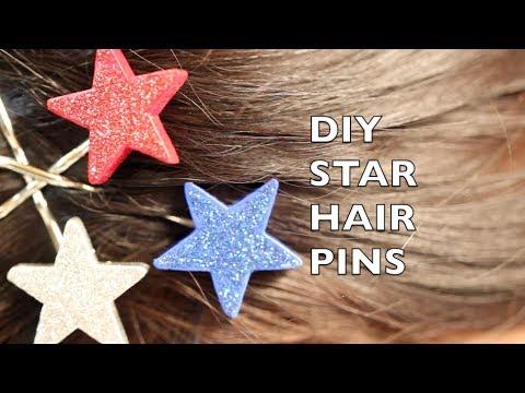 How To Make Star Hair Pins - 4th Of July Hair Pins