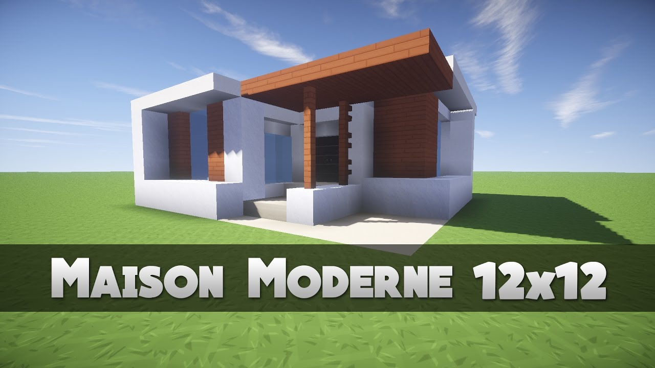 Tuto maison moderne 12x12 minecraft youtube for Maison contemporaine