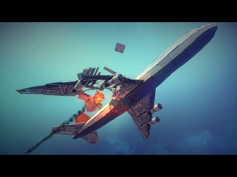 Large Airplanes Shot Down by Guided Missiles #3 | Besiege