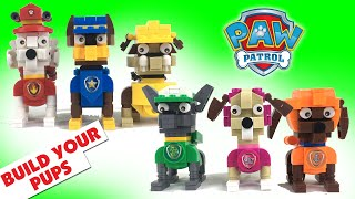 Build PAW PATROL Pups Out of Construction Bricks and Blocks || Keith
