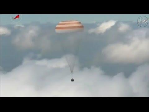Soyuz TMA-19M Lands in Kazakhstan after 186 Days in Space