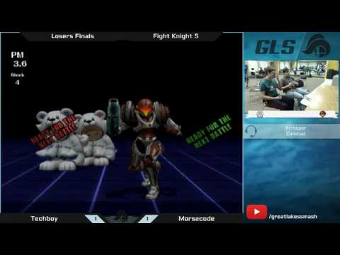 Fight Knight V Project M Singles Losers Finals - Techboy (Ice Climbers) vs. Morsecode (Samus)